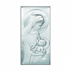Католическая икона Млекопитательница на деревянной подложке, 12х24см