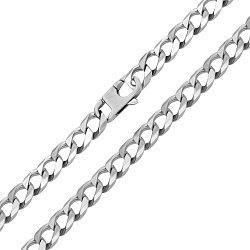 Серебряный браслет в панцирном плетении 000124497