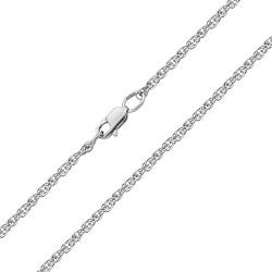 Серебряная родированная цепочка, 2мм 000019521