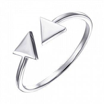 Серебряное кольцо  в стиле минимализм 000135384