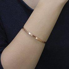 Жесткий браслет Совершенный минимализм в красном золоте, 3,5мм