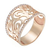 Золотое кольцо с цирконием Holly