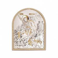 Позолоченная икона Георгия Победоносца