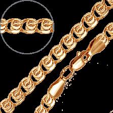Золотой браслет Анжелика в плетении лав, 5мм