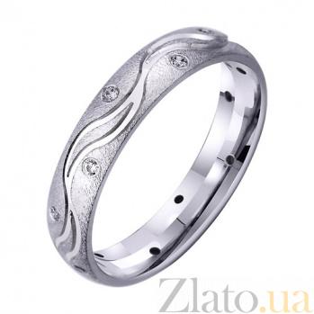 Золотое обручальное кольцо Волны счастья с фианитами TRF--4221762