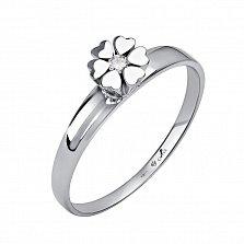 Серебряное кольцо Алексия с бриллиантом