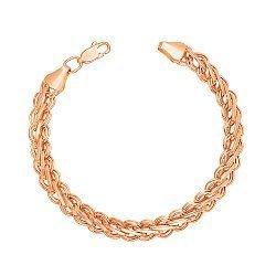 Браслет из красного золота в фантазийном плетении 000134083