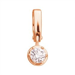 Кулон из красного золота Эстель с бриллиантом