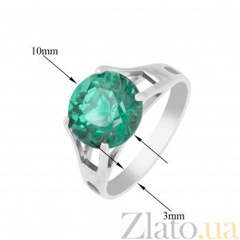 Серебряное кольцо Элис с синтезированным зеленым турмалином 000096298