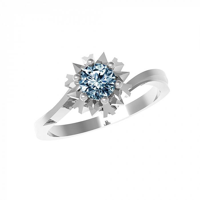 Серебряное кольцо Наоми с лондон топазом 000079712