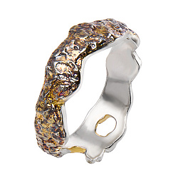 Серебряное фаланговое кольцо Астарта с позолотой и чернением
