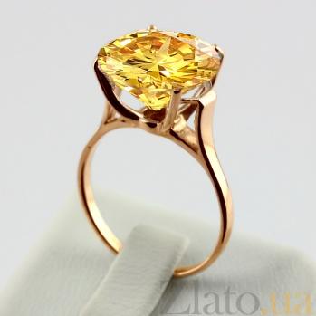 Золотое кольцо с цитрином Диодора VLN--112-005-8