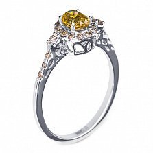 Золотое кольцо с бриллиантами Алика