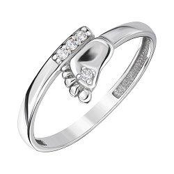 Серебряное кольцо с фианитами 000143875