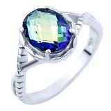 Серебряное кольцо Джовита с топазом мистик