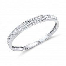 Кольцо Чехия из белого золота с бриллиантами