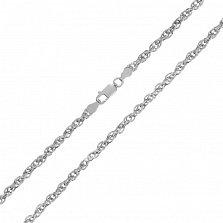 Серебряная цепь Монреаль с родированием, 2 мм