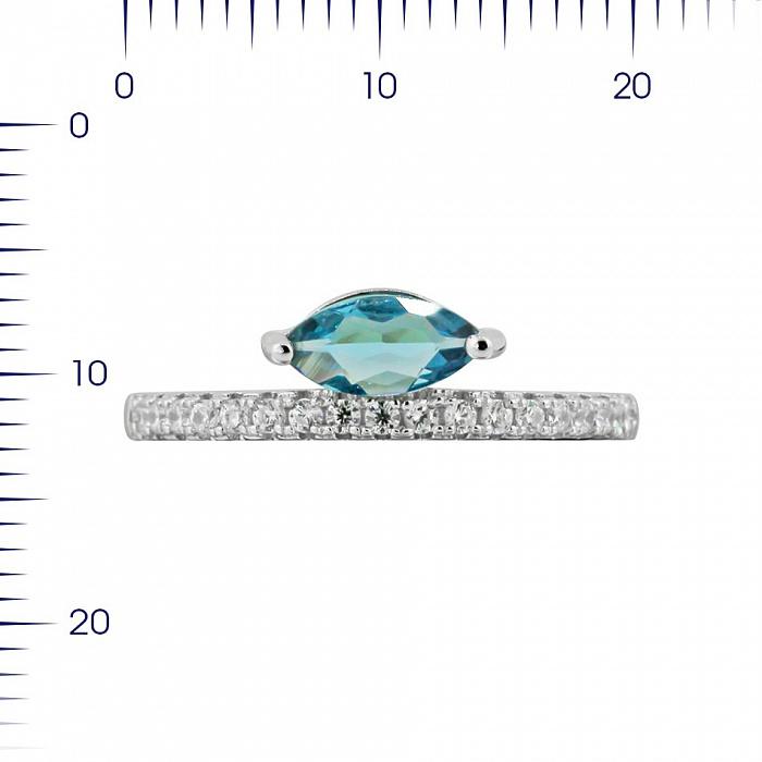 Серебряное кольцо Калипсо с топазом и фианитами 000081529