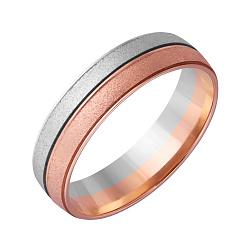 Золотое обручальное кольцо Драгоценная пара в комбинированном цвете