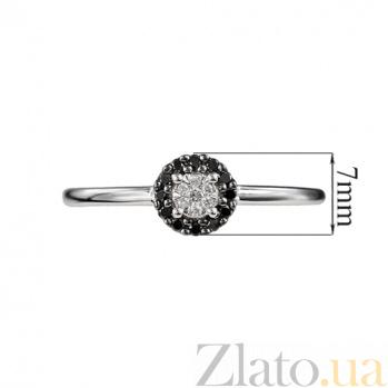Золотое кольцо с черными бриллиантами Полночь 000026878