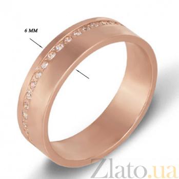 Золотое обручальное кольцо с фианитами Сладость 1078/век
