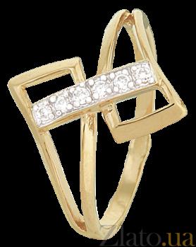 Серебряное кольцо с фианитами Зара 000025613