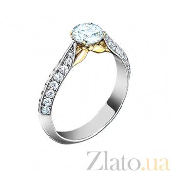 Золотое кольцо с аквамарином и бриллиантами Грани неизвестного 000029710
