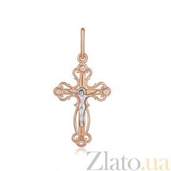 Серебряный крестик с фианитами Истина 000028655