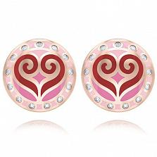 Серьги из розового золота с бриллиантами Талисман: Любви