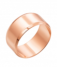 Обручальное кольцо из красного золота Настоящая любовь