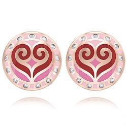 Серьги из розового золота с бриллиантами Талисман: Любви  000011021