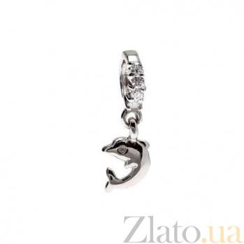 """Серебряная бусина с подвеской """"Дельфин"""" AQA--234510008/5"""