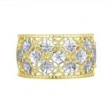 Кольцо Зима из комбинированного золота с бриллиантами