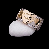 Кольцо из желтого золота Прелести Любви с фианитами в стиле Тиффани