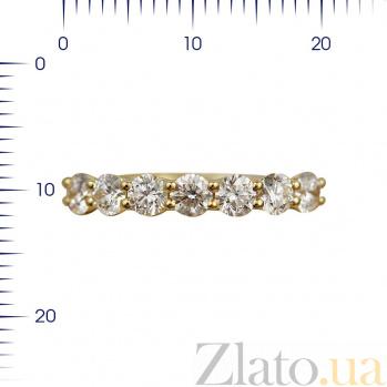 Кольцо из желтого золота Присцилла с бриллиантами 000082000
