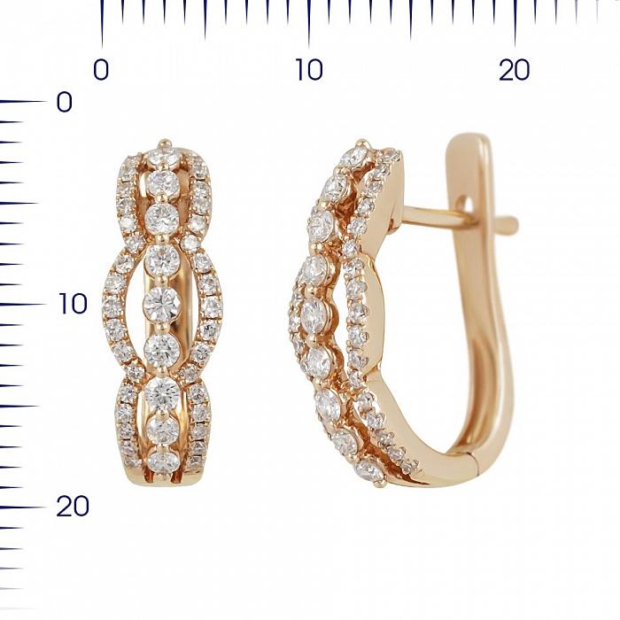 Серьги из красного золота Беттина с бриллиантами 000081235