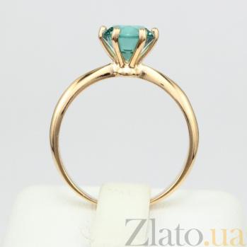 Золотое кольцо Патрисия с синтезированным аметистом 000024459