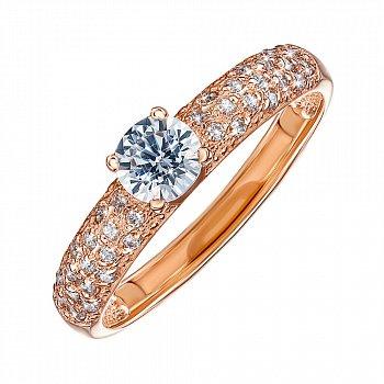 Кольцо золотое помолвочное 000008348
