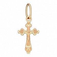 Крестик Небесный покровитель в красном золоте