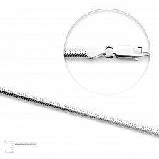 Серебряная цепь Палермо в плетении снейк, 4мм
