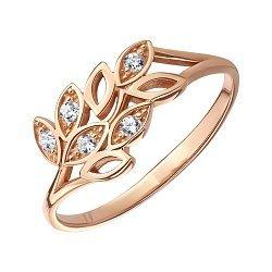 Кольцо из красного золота с фианитами 000121598