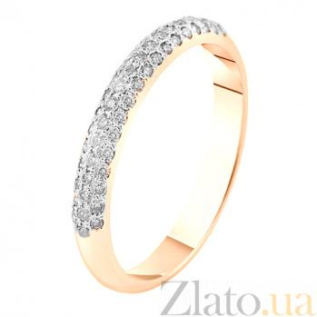 Кольцо в красном золоте Джантайн с белыми или черными фианитами SVA--1190630101/Фианит/Цирконий