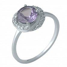 Серебряное кольцо Венди с узором, александритом и фианитами