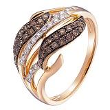 Кольцо в красном золоте Виргиния с бриллиантами