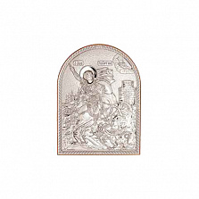 Георгий Победоносец икона серебряная