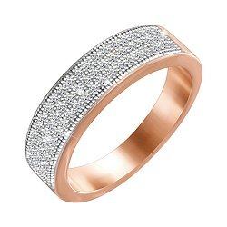Серебряное кольцо с позолотой и фианитами 000052262