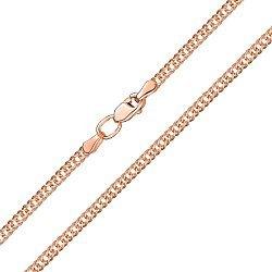 Золотая цепочка в красном цвете плетения ромб, 2мм 000115575