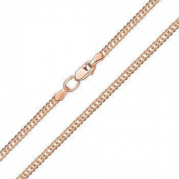 Золотий ланцюжок в червоному кольорі плетіння ромб, 2мм 000115575