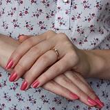 Кольцо в красном золоте Милая невеста с бриллиантом