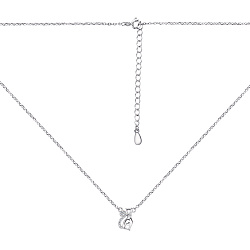 Серебряное колье с подвеской и фианитами 000134140
